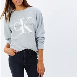 Calvin Klein Jeans Gray Logo Sweatshirt